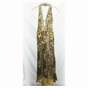 Evening Formal Gown Braded Leopard Print